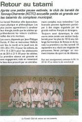 Le Littoral, Septembre 2011