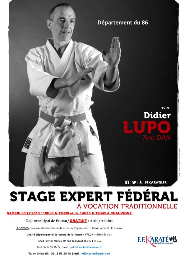 Stage expert didier lupo du 05 12 2015